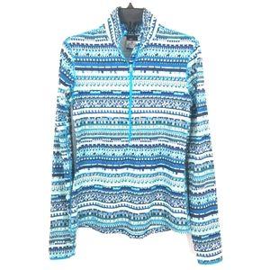 Nike Dri Fit Pro Blue Half Zip Long Sleeve Shirt M